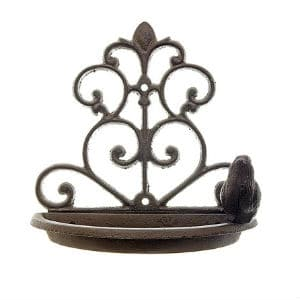 Cast Iron Wall Mounted Bird Feeder