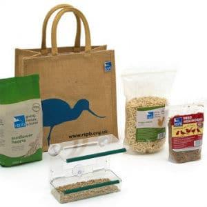 rspb window feeder gift pack