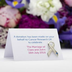Cancer Research Weddding Favours