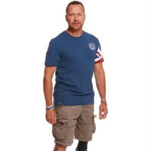 Ensign Blue Union Jack Sleeve T shirt
