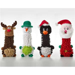 set of four dog toys