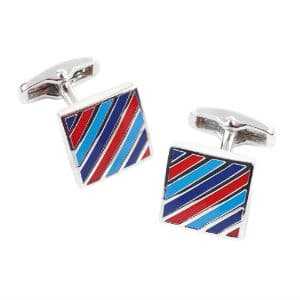 Diagonal Tri-Stripe Cufflinks