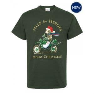 xmas biker bear t shirt