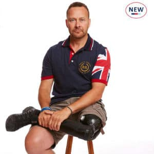 Navy Neptune Union Jack Sleeve Polo