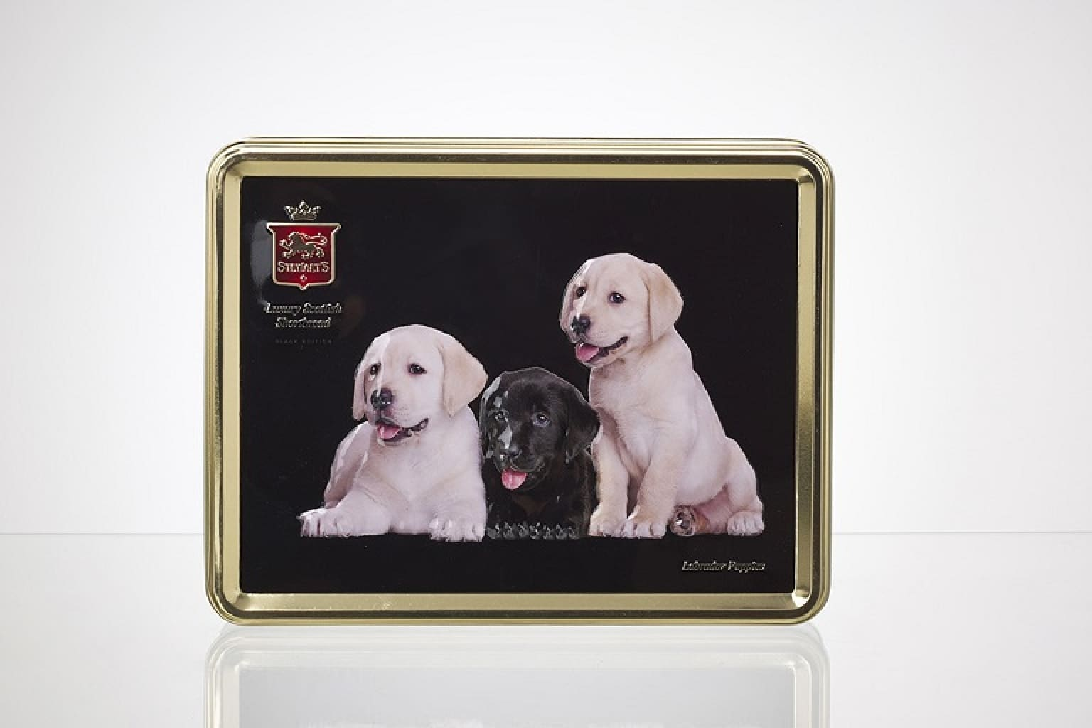 Labrador Puppies Tin Of Biscuits