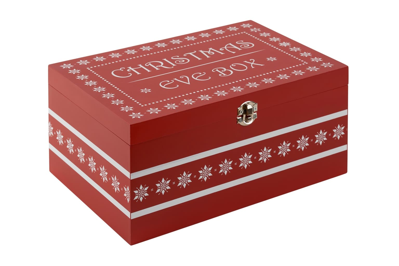 Red Wooden Christmas Eve Box