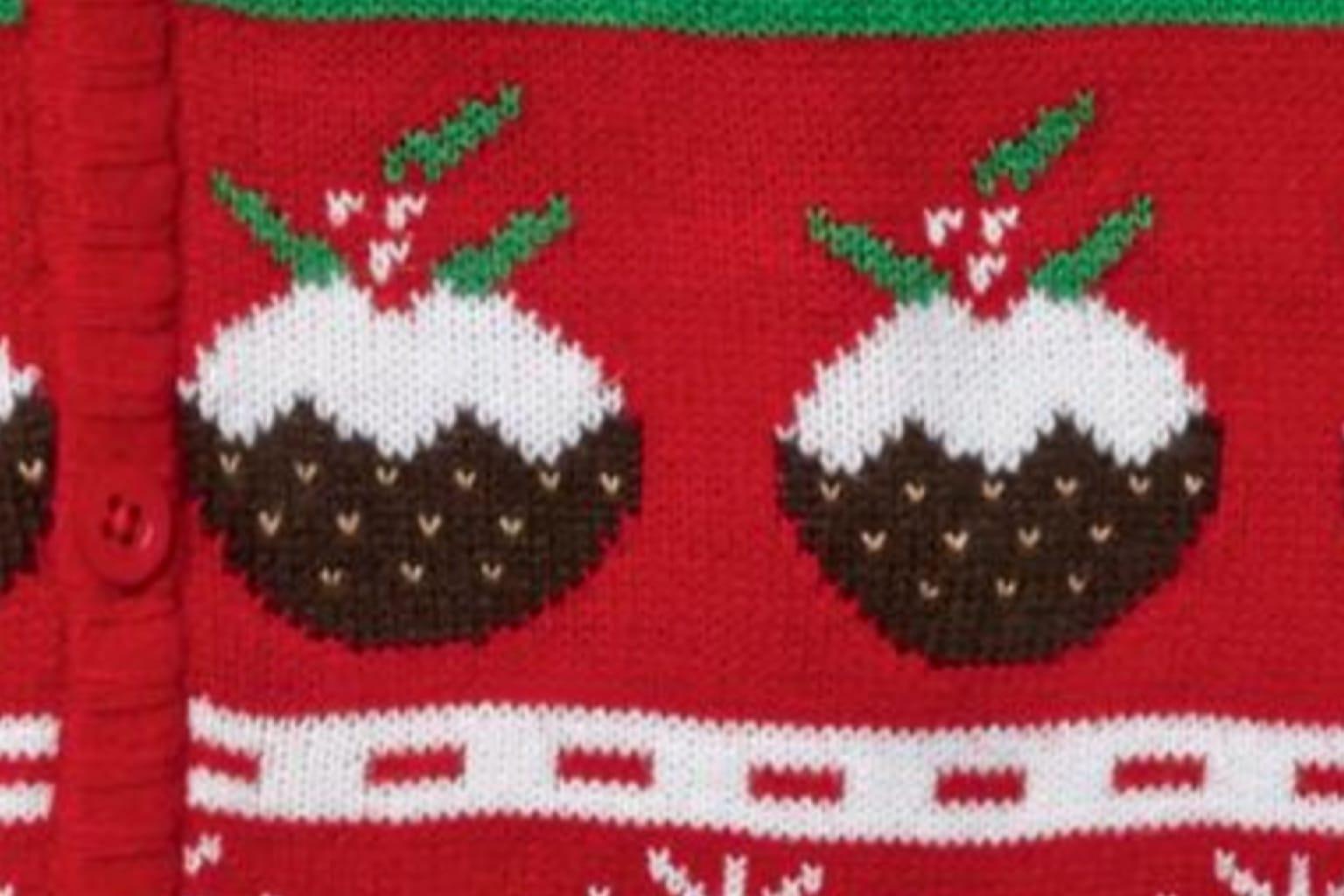 Unisex Christmas Pudding Cardigan