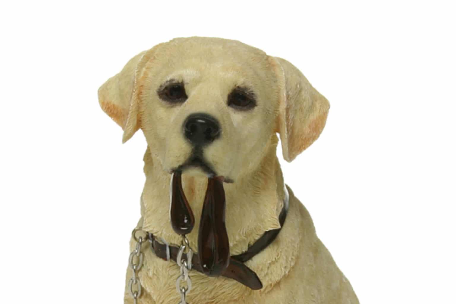 Golden Labrador Walkies Dog Ornament