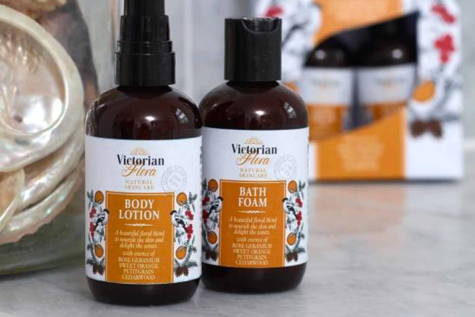 RSPB Victorian Flora Range Bath & Body Set