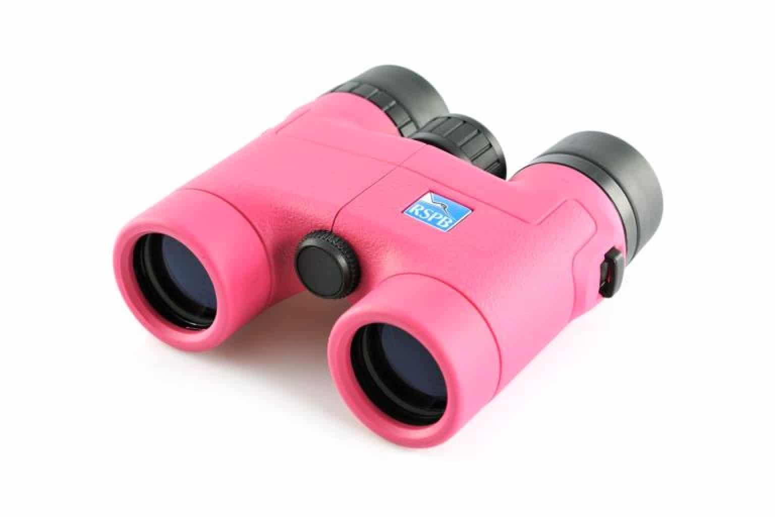 RSPB Puffin 8 x 32 Pink binoculars