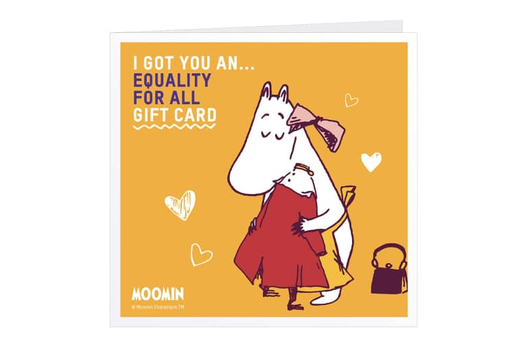 Moomins Equality Charity Gift Card