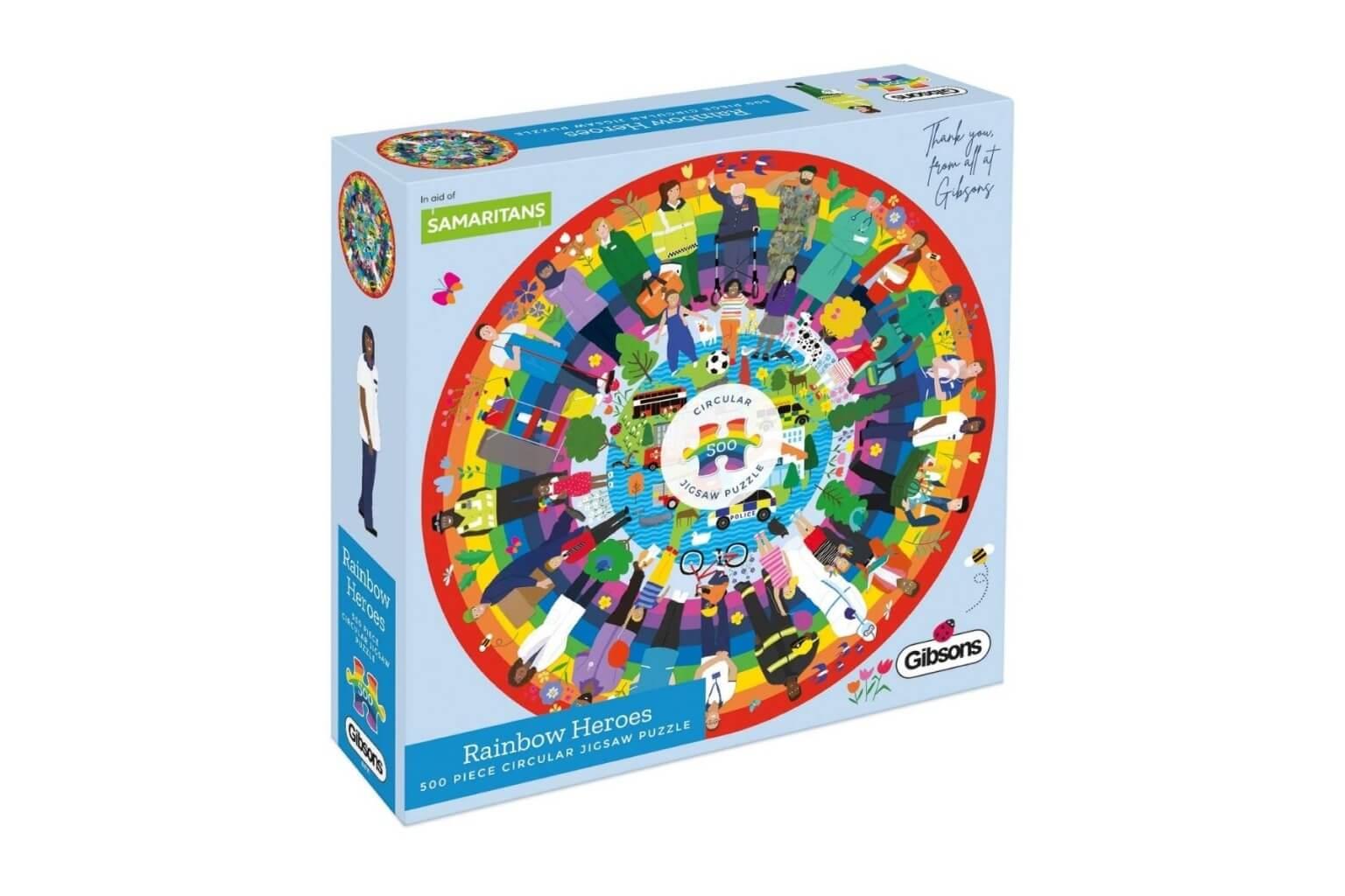 Rainbow Heroes in aid of Samaritans 500 Piece Jigsaw Puzzle