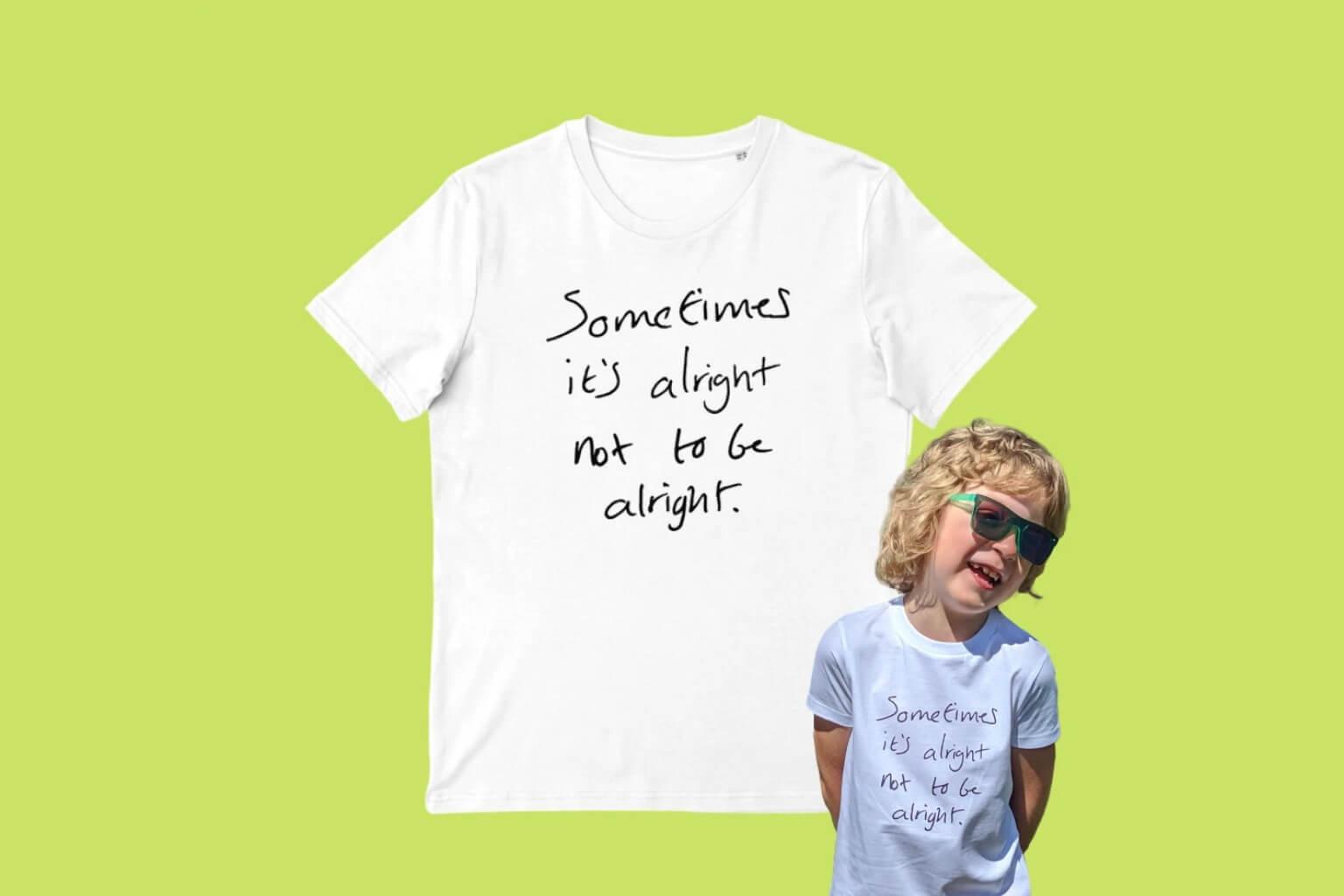 Iconic Slogan T-shirt (100% Organic cotton) Kids